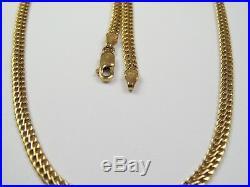 VINTAGE 9ct GOLD BISMARK LINK NECKLACE CHAIN 16 1/2 inch 1993