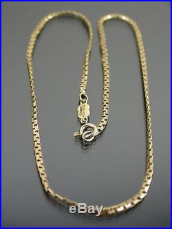 VINTAGE 9ct GOLD BOSTON NECKLACE CHAIN 16 inch C. 1980