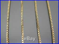 VINTAGE 9ct GOLD BOX LINK NECKLACE CHAIN 18 inch 1983