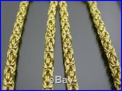 VINTAGE 9ct GOLD BYZANTINE LINK NECKLACE CHAIN 24 inch C. 1990
