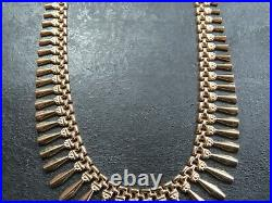 VINTAGE 9ct GOLD CLEOPATRA FANCY LINK NECKLACE CHAIN 17 inch 1991