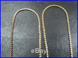 VINTAGE 9ct GOLD CLEOPATRA S LINK NECKLACE CHAIN 17 1/2 inch C. 1980