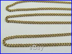 VINTAGE 9ct GOLD CURB LINK NECKLACE CHAIN 20 inch C. 1980