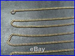 VINTAGE 9ct GOLD CURB LINK NECKLACE CHAIN 20 inch C. 2000