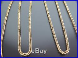 VINTAGE 9ct GOLD CURB LINK NECKLACE CHAIN 24 inch 1982