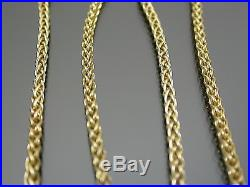 VINTAGE 9ct GOLD ESPIGA LINK NECKLACE CHAIN 16 inch C. 1980