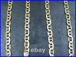 VINTAGE 9ct GOLD FACETED ANCHOR LINK NECKLACE CHAIN 20 1/2 inch 1993