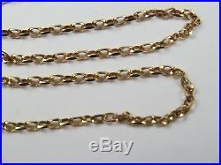 VINTAGE 9ct GOLD FACETED BELCHER LINK NECKLACE CHAIN 20 1/2 inch 1983 UNOAERRE