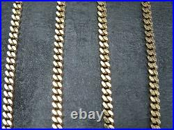 VINTAGE 9ct GOLD FACETED CURB LINK NECKLACE CHAIN 20 inch 1994