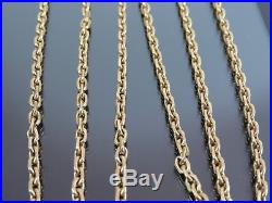 VINTAGE 9ct GOLD FACETED SQUARE BELCHER LINK NECKLACE CHAIN 30 inch 1986