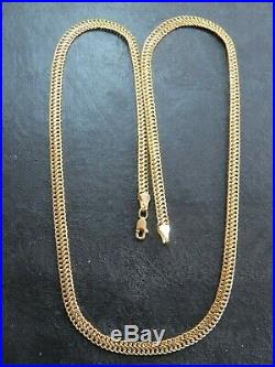 VINTAGE 9ct GOLD FANCY FLAT LINK NECKLACE CHAIN 20 inch C. 1990