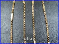 VINTAGE 9ct GOLD FANCY LINK & BATON LINK NECKLACE CHAIN 17 inch 2008