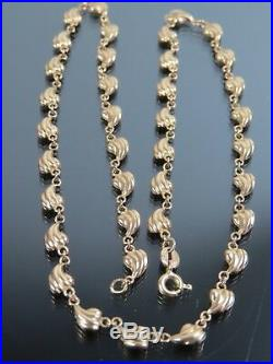 VINTAGE 9ct GOLD FANCY LINK NECKLACE CHAIN 16 inch 1981