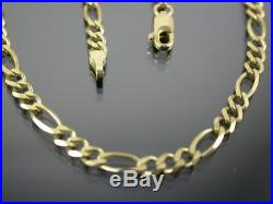 VINTAGE 9ct GOLD FIGARO LINK NECKLACE CHAIN 20 inch 1999