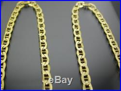 VINTAGE 9ct GOLD FLAT ANCHOR LINK NECKLACE CHAIN 20 inch C. 2000
