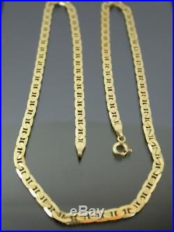 VINTAGE 9ct GOLD FLAT BYZANTINE LINK NECKLACE CHAIN 18 inch C. 1980