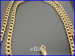 VINTAGE 9ct GOLD FLAT CURB NECKLACE CHAIN 20 inch C. 1980