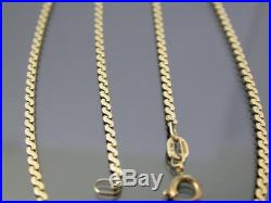 VINTAGE 9ct GOLD FLAT S LINK NECKLACE CHAIN 20 inch 1978