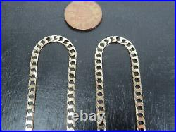 VINTAGE 9ct GOLD FLAT SQUARE CURB LINK NECKLACE CHAIN 18 inch 1988