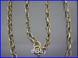 VINTAGE 9ct GOLD LONG LINK BELCHER NECKLACE CHAIN 20 inch C. 1980
