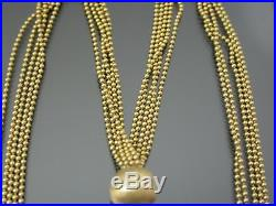 VINTAGE 9ct GOLD PELLINE LINK NECKLACE CHAIN 17 inch With FANCY TASSLE PENDANT