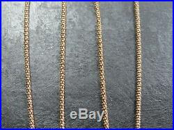 VINTAGE 9ct GOLD POPCORN LINK NECKLACE CHAIN 17 inch C. 1990 Heart Pendant