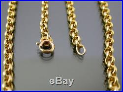 VINTAGE 9ct GOLD ROLO LINK NECKLACE CHAIN 15 1/2 inch 1988