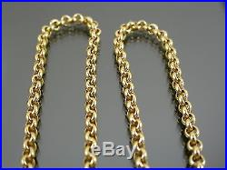 VINTAGE 9ct GOLD ROLO LINK NECKLACE CHAIN 15 1/2 inch 1998