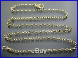 VINTAGE 9ct GOLD ROLO LINK NECKLACE CHAIN 16 inch 1992