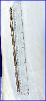 VINTAGE 9ct SOLID GOLD FLAT CURB LINK NECKLACE CHAIN 23 inch, A NICE LONG CHAIN