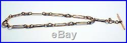 VINTAGE 9ct Yellow Gold Fob Chain with T-Bar Australian RRV $4,320.00