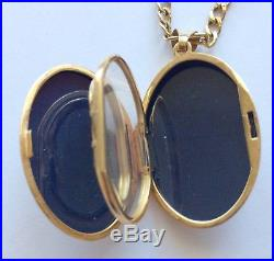 VINTAGE HALLMARKED 9ct GOLD DIAMOND 6 PHOTO LOCKET AND 18 INCH GOLD CHAIN