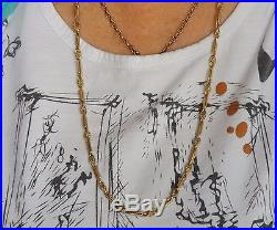 VINTAGE SOLID 9ct GOLD (45.4g) 24 INCH LONG LINK CHAIN