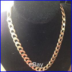 Very Heavy 9CT Gold Curb Chain. 106 Grams