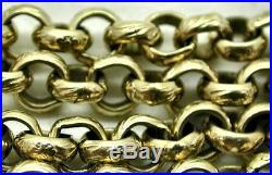 Very Heavy 9ct Gold Beautiful Engraved Link Belcher Chain 1970's Vintage