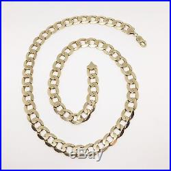 Very Heavy 9ct Gold Curb Chain Fully Hallmarked 25.5 Inch