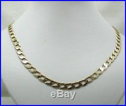 Very Heavy 9ct Gold Gents Curb Link Neckchain