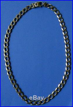 Very Heavy Large Curb-Link Mens' 9ct Gold Necklace. 25 85.9 grams NOT SCRAP