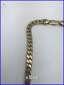 Very Large & Heavy 9ct Gold Curb Link Chain. 20 Inch 73.5 Grams