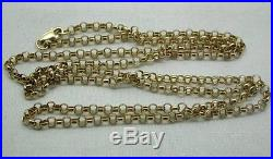 Very Nice Quality 9ct Gold Belcher Link Chain 28 In Length