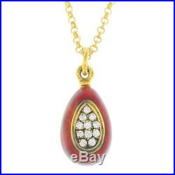 Victor Mayer (Faberge workmaster), A Diamond Egg pendant, on a 9ct gold chain