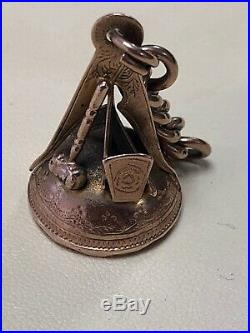 Victorian 9CT Gold Seal Fob With Part Chain (Masonic)