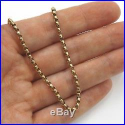 Victorian 9ct Gold Belcher Chain, 20 Inch 51 cms, 6.9 Grams