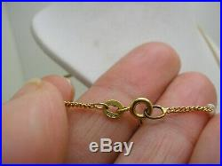 Victorian 9ct Gold Double Sided Glass Bow Top Locket & 9ct Gold Chain