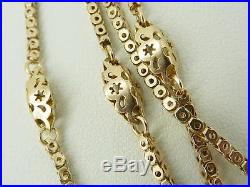 Victorian 9ct Gold Fancy Link Muff / Guard Chain 61. Outstanding. NICE1