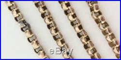 Victorian 9ct Gold Long Guard Muff Chain Necklace 25gms