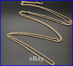 Victorian 9ct Gold Very Long 66 Guard/muff Chain