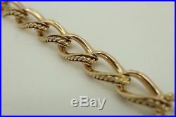 Victorian 9ct Gold Watch Albert Chain Bracelet. Superb. Rare Rope Link. NICE1