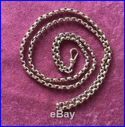 Victorian 9ct Gold Watch Guard Muff Chain 15.5g Approx 32