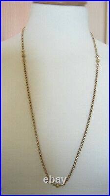 Victorian 9ct Rose Gold Faceted Ring & Ball Chain Necklace 15.1 Grms
